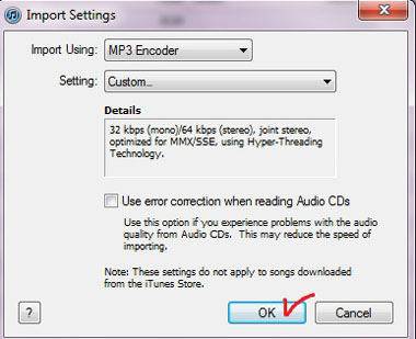 Audiobook CD Import Settings for iTunes – AudioGals