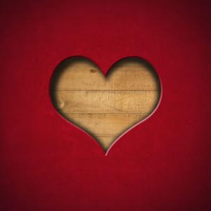 Heart Shape cut on Red Velvet
